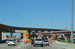 得克萨斯州际高速公路的26高速公路建筑 免版税图库摄影