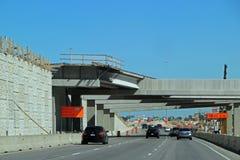 得克萨斯州际高速公路的26高速公路建筑 图库摄影