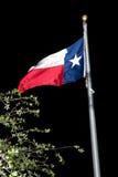 得克萨斯旗子在晚上 免版税库存图片