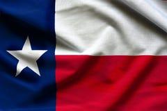 得克萨斯旗子的织品纹理-从美国的旗子 库存照片