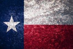 得克萨斯旗子纹理  图库摄影