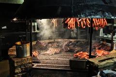 得克萨斯样式烤肉坑 库存图片