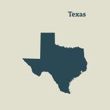 得克萨斯概述地图  例证 向量例证