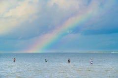 得克萨斯海湾的涉过渔夫 免版税库存图片