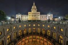 得克萨斯状态国会大厦大厦引伸,夜 库存图片