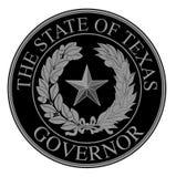 得克萨斯状态州长封印 库存图片