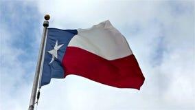 得克萨斯状态旗子 影视素材