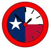 得克萨斯状态时钟 免版税库存照片