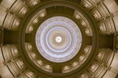 得克萨斯状态议院圆形建筑的天花板 库存图片