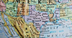 得克萨斯美国4K转动的地球地图  股票视频