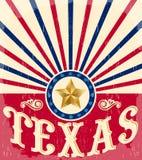 得克萨斯西部葡萄酒的海报-卡片- 免版税库存照片