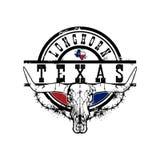 得克萨斯长角牛节日象征商标 皇族释放例证