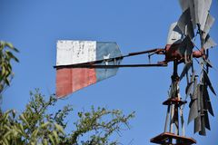 得克萨斯风车 库存照片