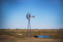 得克萨斯风车 免版税库存照片