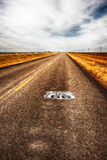 得克萨斯高速公路路线66 库存照片