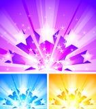 得出准备好的星形向量的背景下载 免版税库存图片