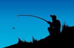 得出花卉草向量的背景 Fisher人 免版税库存照片