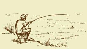 得出花卉草向量的背景 Fisher人 库存照片