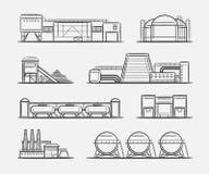 得出集合的工厂和植物 库存照片