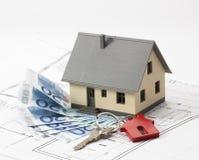 得到一新的家庭ownerhsip的一笔贷款 库存图片