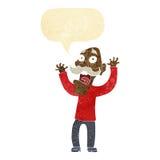 得到与讲话泡影的动画片老人一个惊吓 库存图片