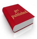 得到写新的畅销品的出版书套 免版税库存图片