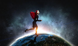 得到您的圣诞节礼物 混合画法 免版税库存照片
