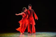 得到沿现代舞蹈方式  免版税库存图片
