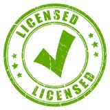 得到许可的产品企业不加考虑表赞同的人 库存例证