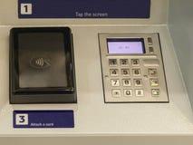 得到金钱的ATM 图库摄影