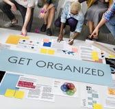 得到组织的管理计划概念 免版税库存照片