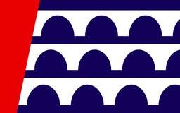 得梅因旗子在衣阿华,美国 免版税图库摄影