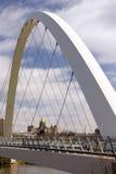 得梅因衣阿华首都大厦政府步行桥 库存照片