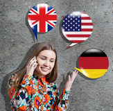 得知外语概念 免版税库存照片