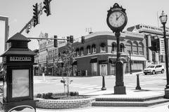 贝得福得镇时钟,美国 库存图片