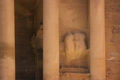 御马者的雕塑的生存零件 库存图片