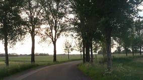 循环在绕乡下公路 影视素材