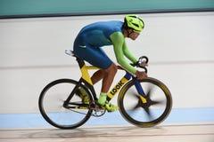 循环在2016奥林匹克的轨道 库存图片