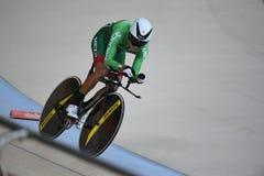 循环在2016奥林匹克的轨道 免版税库存照片