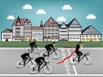 循环对成功线的商人 免版税库存图片
