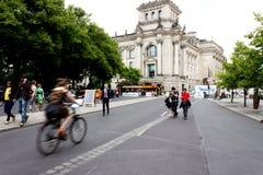 循环对Reichstag 免版税图库摄影