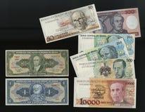 从循环撤出的巴西中央银行样品的钞票 库存图片