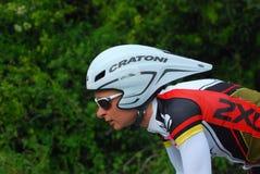 循环的专业triathlete 图库摄影