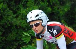 循环的专业triathlete 免版税库存图片