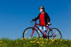 循环的女孩 图库摄影