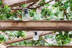 循环的想法-从瓶子的灯 库存照片