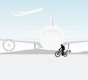 循环的机场场面 免版税图库摄影