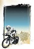 循环的海报背景 库存照片