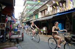 循环的游览在曼谷,泰国 免版税库存图片
