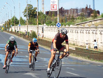 循环的竞争在布加勒斯特 免版税库存图片
